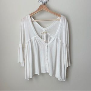 NWT Free People We The Free ivory blouse